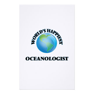 World's Happiest Oceanologist Stationery