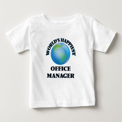 World's Happiest Office Manager Tee Shirt T-Shirt, Hoodie, Sweatshirt