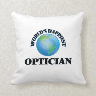 World's Happiest Optician Pillow