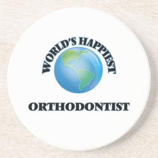 World's Happiest Orthodontist Beverage Coaster