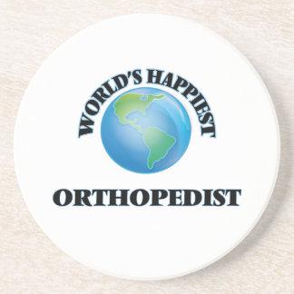 World's Happiest Orthopedist Beverage Coaster