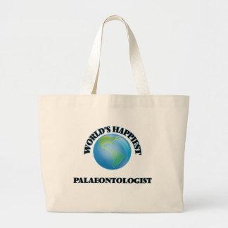 World's Happiest Palaeontologist Jumbo Tote Bag