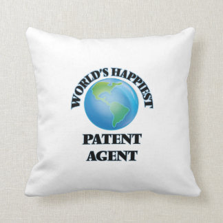 World's Happiest Patent Agent Pillow