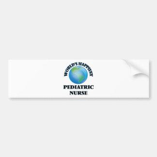 World's Happiest Pediatric Nurse Bumper Sticker