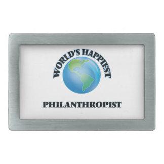 World's Happiest Philanthropist Belt Buckles