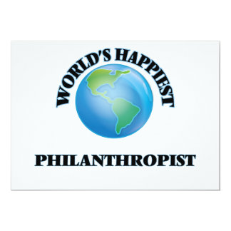 "World's Happiest Philanthropist 5"" X 7"" Invitation Card"