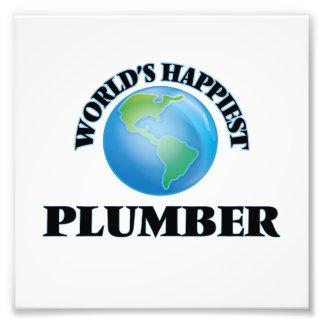 World's Happiest Plumber Photo Print