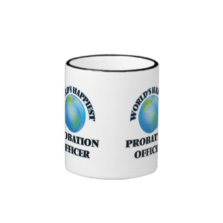 World's Happiest Probation Officer Ringer Mug