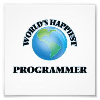World's Happiest Programmer Photo Print