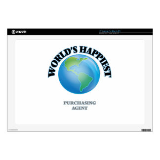 """World's Happiest Purchasing Agent 17"""" Laptop Skins"""