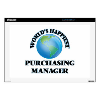 """World's Happiest Purchasing Manager Decal For 17"""" Laptop"""