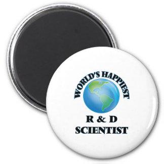 World's Happiest R & D Scientist 2 Inch Round Magnet