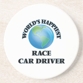 World's Happiest Race Car Driver Beverage Coasters
