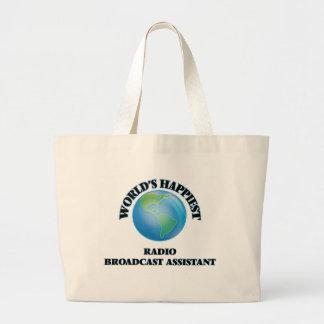 World's Happiest Radio Broadcast Assistant Jumbo Tote Bag