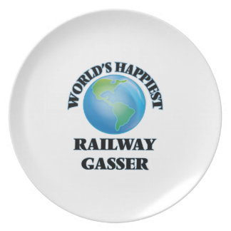 World's Happiest Railway Gasser Party Plate