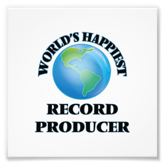 World's Happiest Record Producer Photo Print