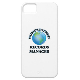 World's Happiest Records Manager iPhone 5 Cases