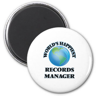 World's Happiest Records Manager 2 Inch Round Magnet