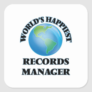 World's Happiest Records Manager Square Sticker