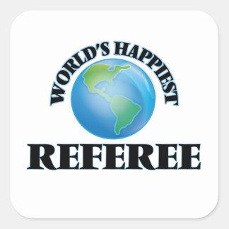 World's Happiest Referee Square Sticker