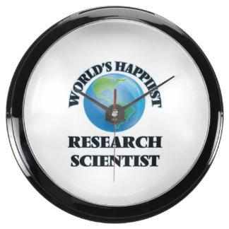 World's Happiest Research Scientist Aqua Clocks