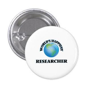 World's Happiest Researcher 1 Inch Round Button