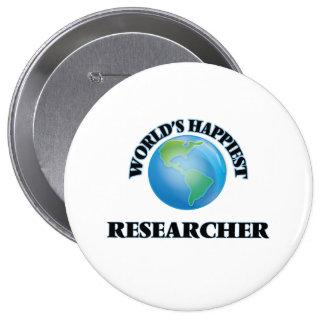 World's Happiest Researcher 4 Inch Round Button