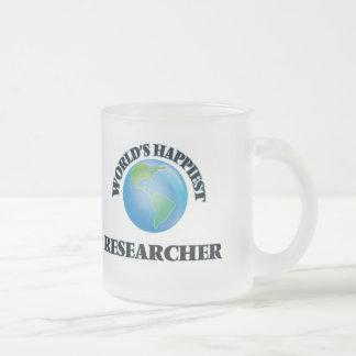 World's Happiest Researcher Frosted Glass Mug