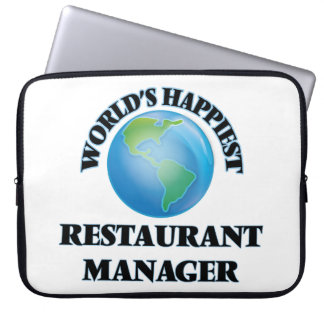 World's Happiest Restaurant Manager Computer Sleeve