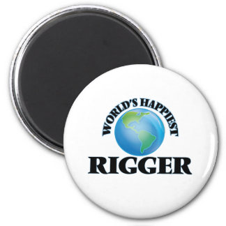 World's Happiest Rigger 2 Inch Round Magnet