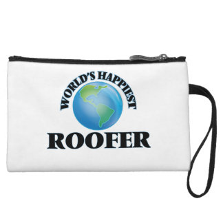 World's Happiest Roofer Wristlet Clutches
