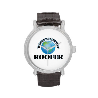 World's Happiest Roofer Wrist Watches