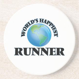 World's Happiest Runner Beverage Coaster