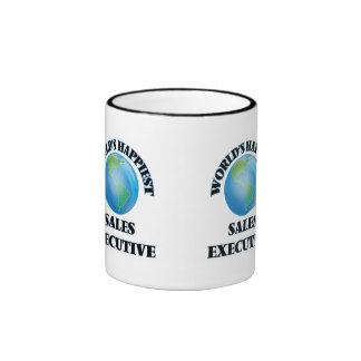 World's Happiest Sales Executive Ringer Coffee Mug