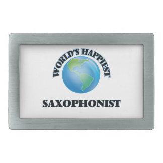 World's Happiest Saxophonist Belt Buckle