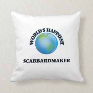 World's Happiest Scabbardmaker Throw Pillows