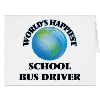 World's Happiest School Bus Driver Big Greeting Card