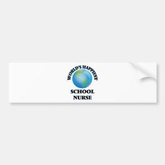 World's Happiest School Nurse Bumper Sticker