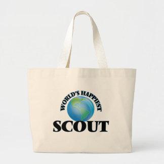 World's Happiest Scout Jumbo Tote Bag