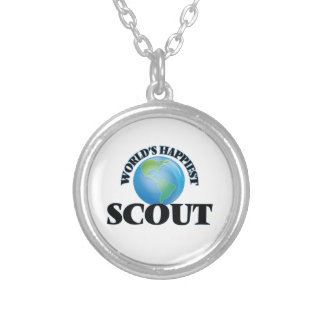 World's Happiest Scout Round Pendant Necklace