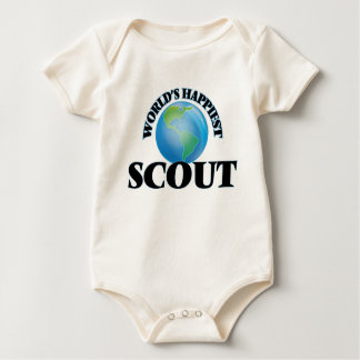 World's Happiest Scout Baby Bodysuits
