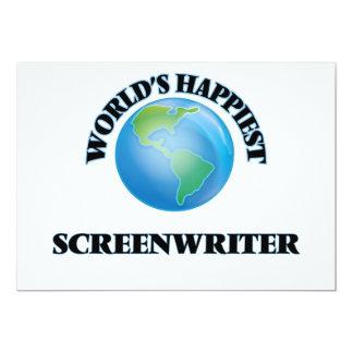 "World's Happiest Screenwriter 5"" X 7"" Invitation Card"
