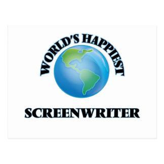World's Happiest Screenwriter Postcard
