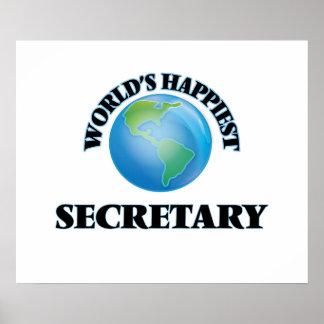World's Happiest Secretary Poster