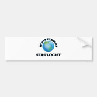 World's Happiest Serologist Car Bumper Sticker