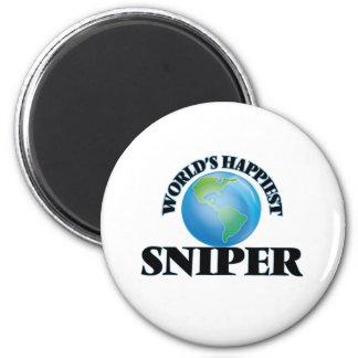 World's Happiest Sniper 2 Inch Round Magnet
