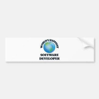 World's Happiest Software Developer Car Bumper Sticker