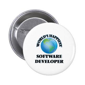 World's Happiest Software Developer 2 Inch Round Button