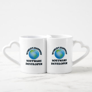 World's Happiest Software Developer Couples' Coffee Mug Set