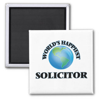 World's Happiest Solicitor 2 Inch Square Magnet